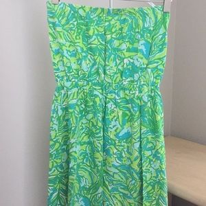 Lilly Pulitzer Dresses - Lily Pulitzer cotton strapless dress